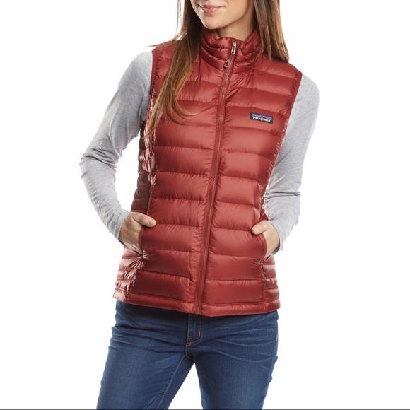 0bb44e7cd Patagonia women's down sweater vest, rust, medium